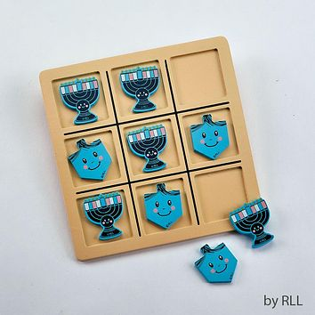CHANUKAH TIC TAC TOE GAME, WOOD, 8' X 8', CARDED