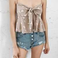 Ella Knot Top - Taupe