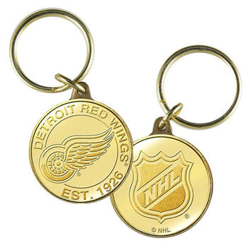 Detroit Red Wings NHL Detroit Red Wings Bronze Coin Keychain