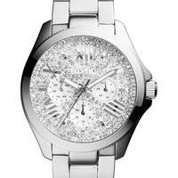 Women's Cecile Pave Dial Multifunction Bracelet Watch