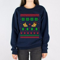 Rudolph and Clarice Christmas Sweater Crewneck Sweatshirt