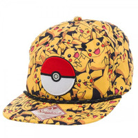 Pokemon - Pikachu All Over Print Snapback