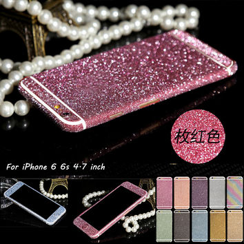 For iPhone 6s Full Body Sticker Case For iPhone 7 5s Matte Decals For iPhone SE 6 6s plus Luxury Bling Sparkly Screen Protector