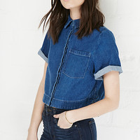 DailyLook: The Fifth Label On The Horizon Denim Shirt in Blue S - L