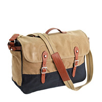 J.Crew Mens Abingdon Messenger Bag In Two-Tone