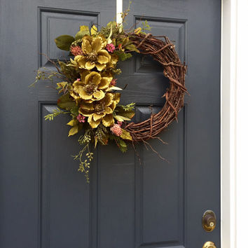 Best decorated grapevine wreaths for spring products on wanelo for How to make a spring wreath from scratch