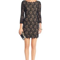 Colleen Two-Toned Lace Dress