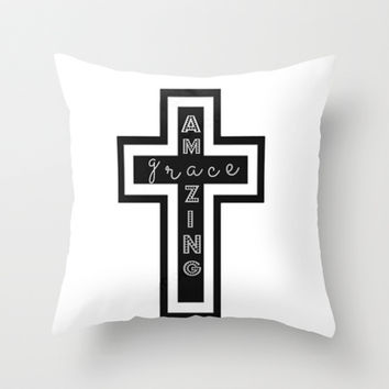 Amazing Grace Throw Pillow by brookmariephotography