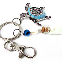 Sea Turtle Charm Car Accessory