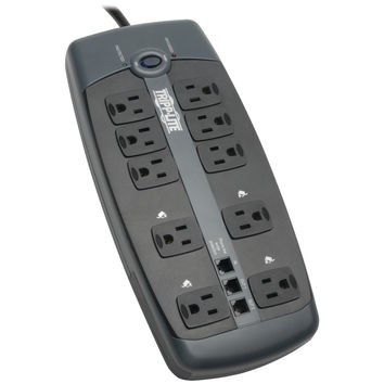 Tripp Lite 10-outlet Surge Protector With Telephone Protection (without Coaxial Protection)