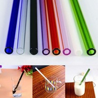 DCCKL72 1pc Handmade Healthy Glass Straw ECO-friendly Household Glass Straight Pipet Tubularis Snore Piece Tube