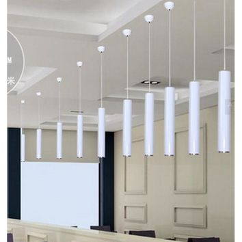 LukLoy Pendant Lamp Lights Kitchen Island Dining Room Shop Bar Counter Decoration, Cylinder Pipe Pendant Lights Kitchen Lights