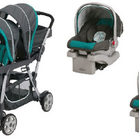 Graco Smarties Baby, Infant Double Twin Stroller Travel System with 2 Infant Car Seats