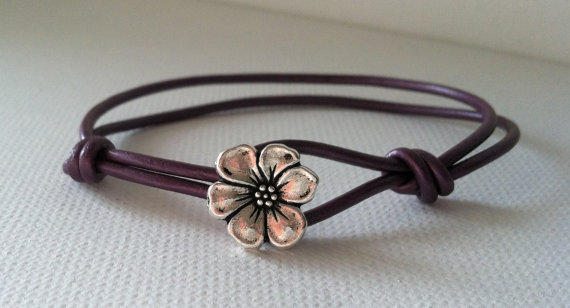Spring Colors Apple Blossom Silver Button by Jennasjewelrydesign