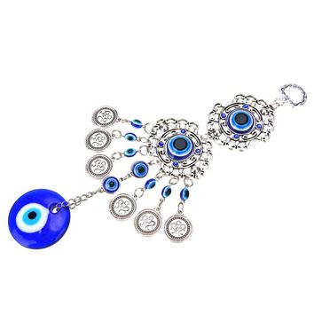 Shellhard 25cm Lucky Turkish Blue Evil Eye Amulat Decoration For Car Office Trendy Charm Pendants Jewelry Accessories
