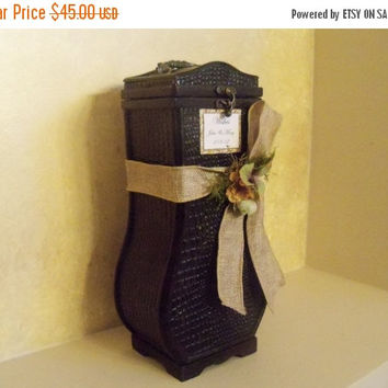 ON SALE Wedding Card box / Rustic Wedding Wishes Card box / Bridal Shower Card Box