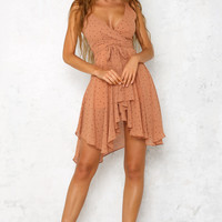 Sixty Six Midi Dress Tan