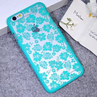 Mint Hollow Out Clover Leaf Case Cover for iPhone 5s 6 6s Plus Gift