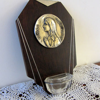 French Vintage Benitier Holy Water Font Art Deco