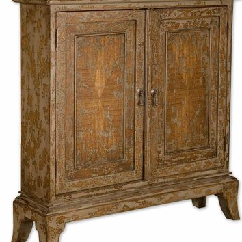 Maguire Distressed Console Cabinet by Uttermost