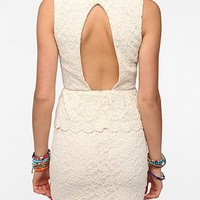 Pins and Needles Knit Lace Peplum Dress