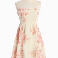 Sweet Romance Embroidered Dress