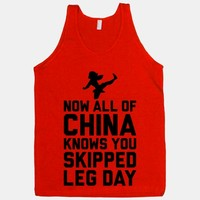 All Of China Knows You Skip Leg Day