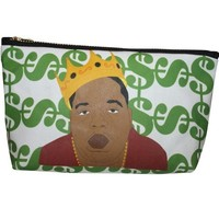 Biggie Smalls Pop Zipper Pouch and Makeup Bag – Illustrated and Handmade in the USA