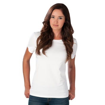 Crew Neck Tee in White by Southern Tide