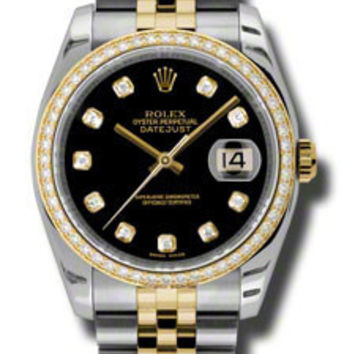 Rolex - Datejust 36mm - Steel and Yellow Gold - Diamond Bezel