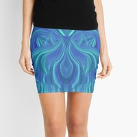 'Betta Marine' Mini Skirt by Kerry-Symetria