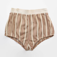 Vintage 50s Swim Trunks / 1950s Men's Striped High Cut Jantzen Briefs