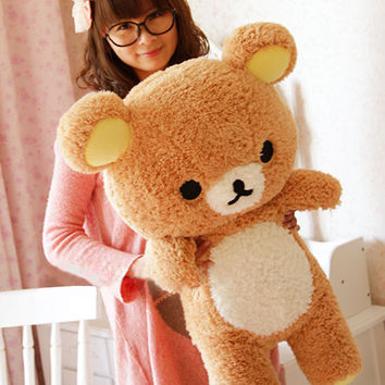 Gift San-x Rilakkuma Relax Bear Cute 55cm Soft Pillow Plush Toy Doll