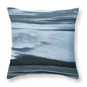 Blue Surf Photo Art Home Decor Accent Throw Pillow. Ocean Surf Blue Seat Cushion. Nature Abstract Pillow Cover. Blue Abstract Cushion