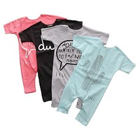 Toddler Baby Rompers Summer Baby Boy Clothes Roupas Bebe Newborn Baby Jumpsuits Infant Girls Clothing Sets Baby Boy Rompers
