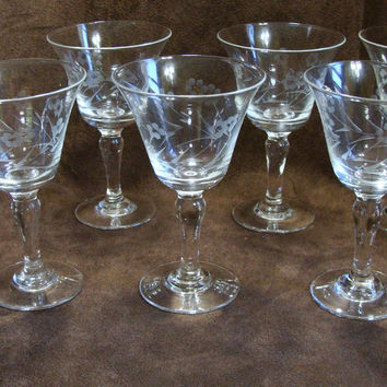 WT Grant Japan Hand Cut Stemware Vintage Cordials Liquors  Set of 6