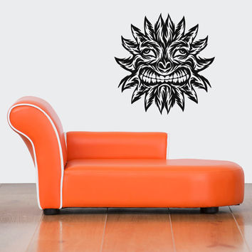 Abstract Fire Funny Sun Smiling Room Wall Vinyl Sticker Decal Art Decor 1381