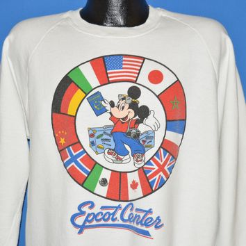 80s Epcot Center Mickey Mouse Sweatshirt Extra Large