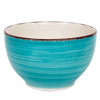 "Bulk Royal Norfolk Turquoise Swirl Stoneware Bowls, 5½"" at DollarTree.com"