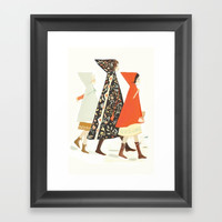 Winter Walk Framed Art Print by emilywinfieldmartin
