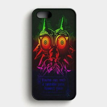 Legend Of Zelda Majoras Mask Quote iPhone SE Case