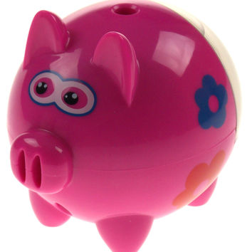 Tzumi Pink Piggy Pencil Sharpener USB or Battery Operated Lights Up School Home