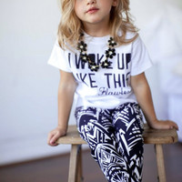 Very Cute ( I Woke Up Like This ) Girls 2 Piece Outfit