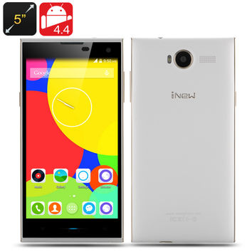 iNew V7 Smartphone - 5 Inch 1280x720 Screen, MTK6582M Quad Core 1.3GHz CPU, 2GB RAM, 16GB Internal Memory, Android 4.4 OS