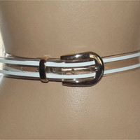"""Vintage 80s Clear Belt 