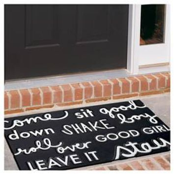 "Dog Commands Rubber Doormat Black 18""x30"" - Room Essentials™ : Target"