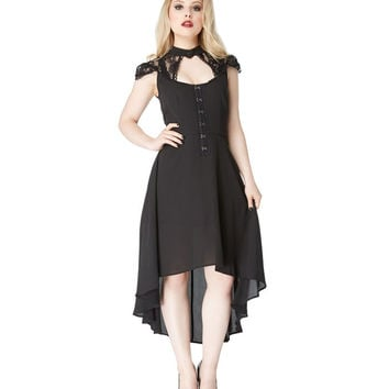 Jawbreaker Skull Lace and Chiffon Silencio Dress