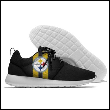 Pittsburgh Steelers Athletic Lace Up Sport Running Shoes Sports Gift