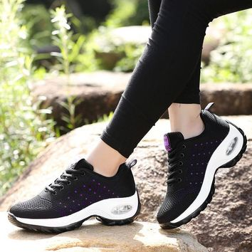 2018 Women Sneakers Shoes Fashion Lace Up Flat Spring Breathable Air Mesh Women Casual Shoes Outdoor Shoes Ladies tenis feminino