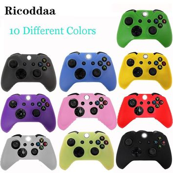 For Xbox One Controller Silicone Gel Case Skin Cover Rubber Case For Microsoft Xbox one Gamepad Joystick Soft Cases 10 Colors